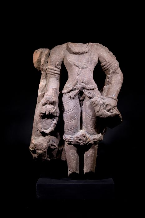 Red Sandstone of Shiva - Height: 42 cm.