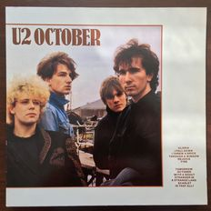U2 4 LP's: October, The Unforgettable Fire, Under a Blood Red Sky, The Joshua Tree with Anton Corbijn photo's!