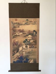 Scroll made after old painting - China - second half 20th century