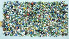 Very large collection of marbles-stone and glass-17.2 kgs!