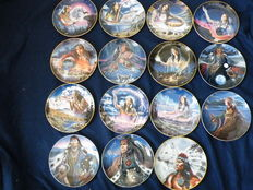 15 beautiful Franklin Mint porcelain plates -Indians - Franklin Mint Heirloom Recommendation - Limited edition
