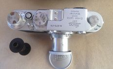 Leica IIf Camera  1954, with Elmar f=5cm metric,Case  All Items Excellent Functional Condition