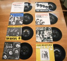 The Beatles: Lot Of  Eight (8) Very Collectable  and Wanted Dutch Singles in Original Photocovers from the  60s In VG++/ Excellent/Near Mint Condition.All With Centerpeices!!)