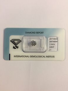 Brilliant, 1.19 ct, light grey/brown