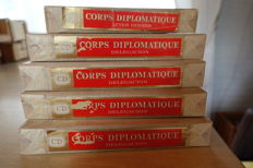 Wooden cigars boxes Diplomatic Corps
