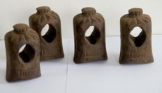 Four Rudolf Sack, cast iron weights - Germany - approx. 1875
