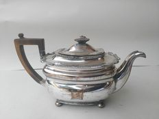 Large Georgian style silver plated teapot for warm water, from c1840