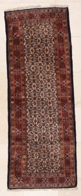 Hand-knotted Persian rug – Moud, 77x200 cm – Iran – approx. 1980