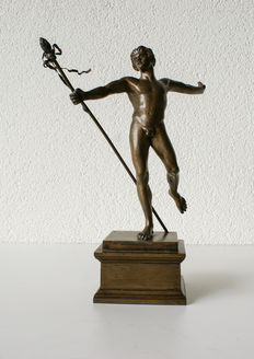 Dancing faun - bronze - France - 2nd half of the 19th century.