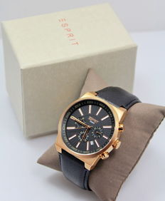 Esprit Men Rose Gold Stainless Steel Chronograph Watch