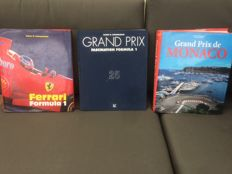 3 great books off F1; Ferrari F1, GrandPrix Fasination and Grand Prix de Monaco