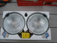A Set of new floodlights BRAND F E K EAGLE made in the DDR, from the 1980s and 1990s.