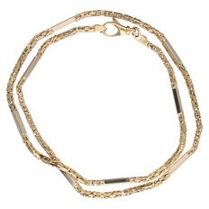 14 kt yellow gold Byzantine link necklace - Length: 45 cm