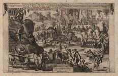 Romeyn de Hooghe (1645-1708)  - Cannibals in the America's and other horrible scenes - Published by Van der Aa - 1710