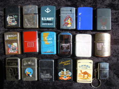 Batch of 18 lighters ZIPPO copies-Year 68/80