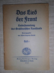 Third Reich; lot with 11 books/booklets with songs, lyrics and sheet music of the Hitler Youth and soldier songs - 1931/1940