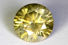 Diamant - 2.05 ct - Fancy Greenish Yellow - Zonder Reserve Prijs