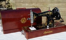 Well maintained and very decorative Lewenstein sewing machine, Netherlands, ca. 1950