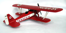 Texaco cast iron piggy bank - Stearman Biplane - Mid - 20th century