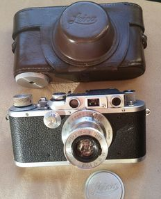 Leica IIIb 1938 Camera with Leitz Elmar 5cm Lens and Case, All Immaculate Healthy Condition