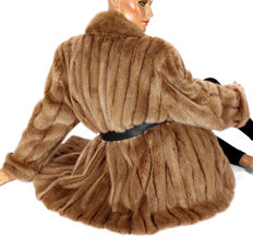 A light mink coat mink fur jacket fur coat elegant with Bogner lining