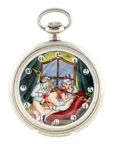 DOXA. Erotic pocket watch. AUTOMATON. Year: 1906.