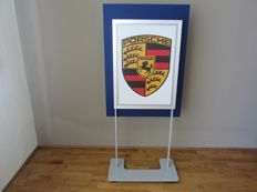 Porsche light column - double sided - Klostermann GmbH, Germany - 136.5 x 61.5 x 30 cm