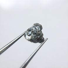 Raw Diamond Grayish Color - 7.57 x 7.11  x 5.03 mm - 1.97 ct