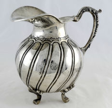 Real Silver Factory. Jug in Mexican silver. Early 20th century.