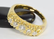 0.72 ct diamond Victorian ring in 18 kt gold * no reserve *