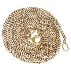 18 kt yellow gold curb link necklace – Length: 51.5 cm.