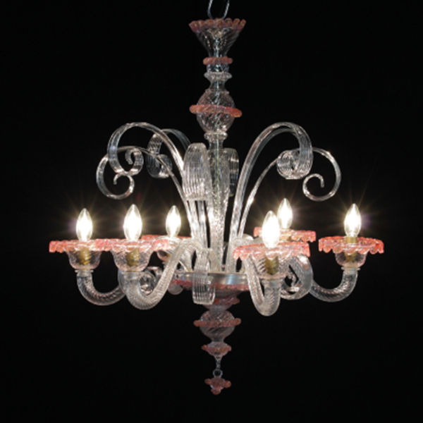 Six-arm chandelier - Italy, 20th century