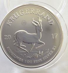 South Africa – Krugerrand 2017 '50th anniversary' – 1 oz silver