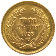 Turkey - 25 Kurush 1923/78 – gold