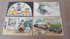 Autographed children's cards from well known illustrators and publishers - 63 x