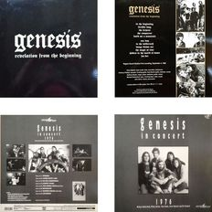 "Genesis Lot Of Two ( 2 ) LP's ""In Concert 1976"" & ""Revelation From The Beginning""  -  Peter Gabriel & Phil Collins Era !"