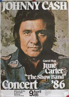 Anonymous - Johnny Cash concert poster - 1986