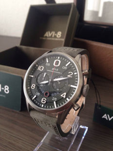 AVI-8 Hawker Harrier II AV-4031 chronograph gift set – Men's wristwatch – 2017