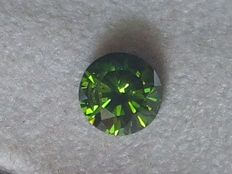 Natural Diamond – 0.24 ct – Colour: fancy intense green – Clarity: VS2 - Country of origin: Africa