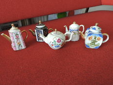 Lot of 5 miniature cans of collector - various decorations - 10 piece