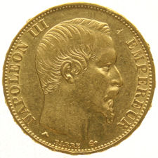 France – 20 francs 1860 BB Napoleon III – gold