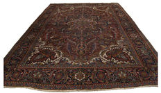Authentic, original, antique rug Heriz Eris Heris – Persian (Iran) – 330 x 237 cm – With official certificate of authenticity from expert – Farah Gallery 1970
