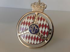 Badge with the arms of the Automobile Club de Monaco (ACM)