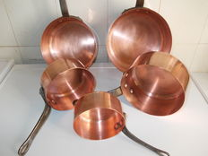 Heavy copper cookware set professional quality