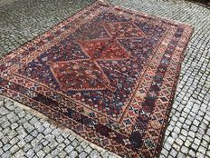 Old Vintage RUG IRAN SHIRAZ 310x220 Hand knotted