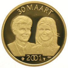 "The Netherlands - Medal ""Engagement of Willem Alexander & Maxima Zorreguieta"" 2001 - gold"