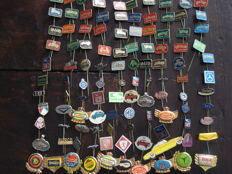 Very large collection of more than 300 cars motorcycle truck and transport related pins
