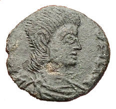 The Vandals in North Africa Trasamundo? 496-523 A.D. Nummus Ae. Rare