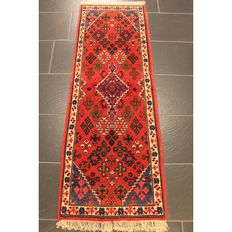 Old Persian carpet Mey Mey Keshan 160 x 56 cm natural colours Made in Iran around 1960 Old Rug