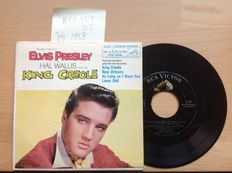 Elvis Presley. Lot of 9 very old singles and extended play